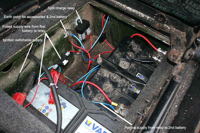 How To Install A Split Charge Kit Into A Land Rover