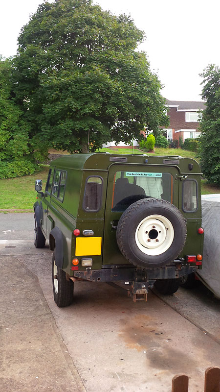 How To Paint A Land Rover 110 With A Roller Brush The
