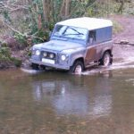 Green laning in a Defender 90