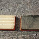 The difference between the old and new air filters is clearly seen!