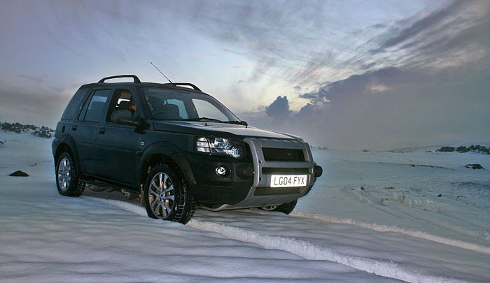Alan's Land Rover Freelander in the snow