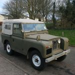 With the canvas in place it transforms the look of the Land Rover